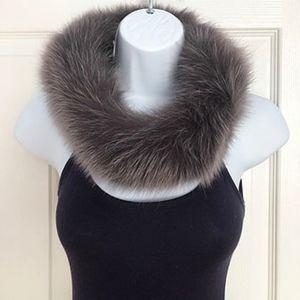 Winter Warm Real Fox Fur Loop Collar Scarf